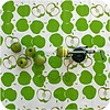 MixMamas Mexicaans tafelzeil op rol Appeltjes wit-licht groen 11m