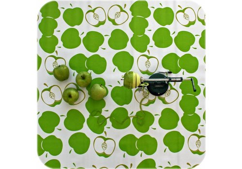 MixMamas Tafelzeil Appels - Rol - 120 cm x 11 m - Lichtgroen