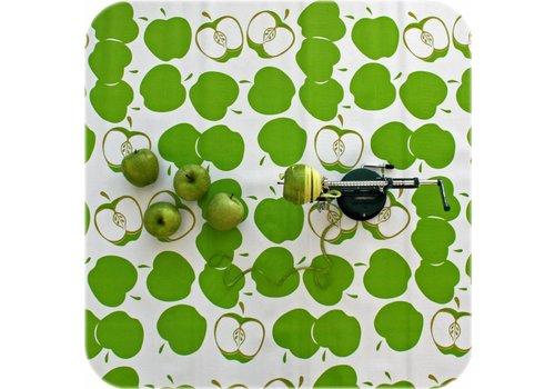 MixMamas Tafelzeil op rol Appeltjes wit-licht groen