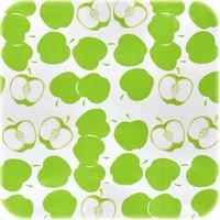 Mexicaans tafelzeil op rol Appeltjes wit-licht groen 11m