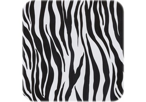 MixMamas Tafelzeil op rol Zebra zwart