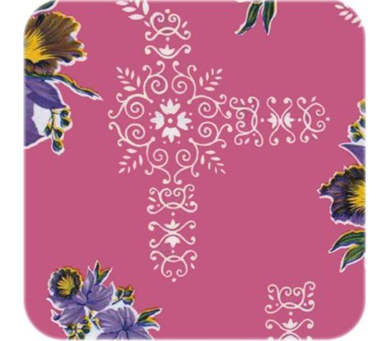 Mexicaans tafelzeil op rol 11m orchidee roze SALE