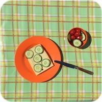 Mexicaans tafelzeil op rol Schotse Ruit groen 11m