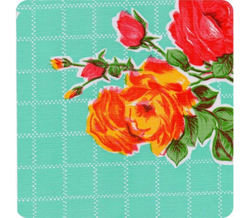 Mexicaans Tafelzeil Rozendal - 120 x 200 cm - Mintgroen