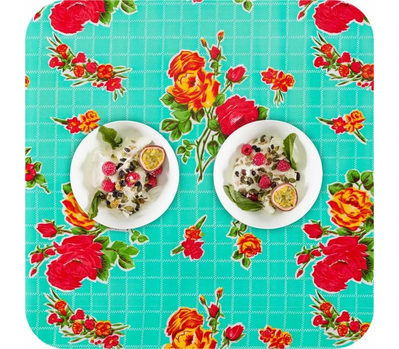 Mexicaans tafelzeil 2m bij 1.20m, Rosedal mint