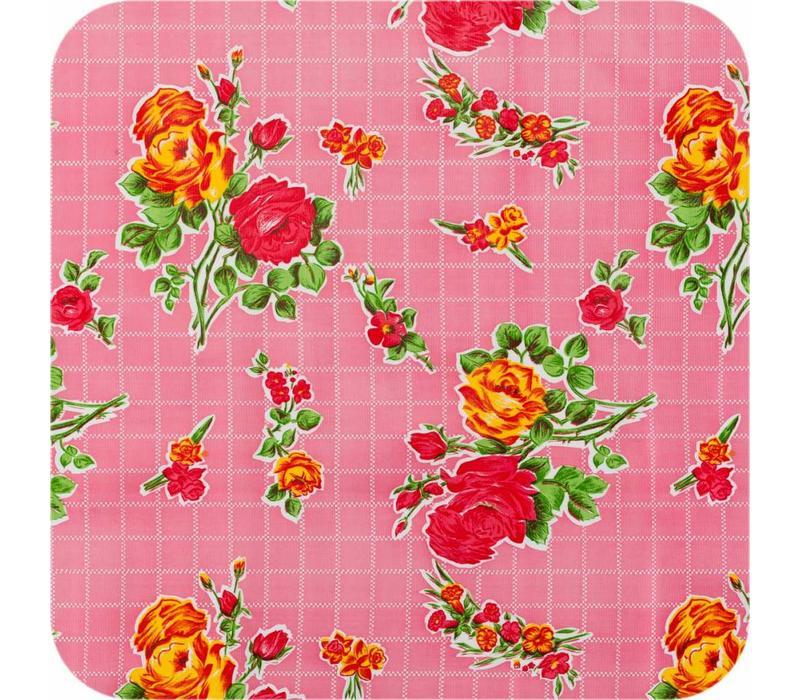 Mexicaans tafelzeil 2m bij 1.20m, Rosedal rose