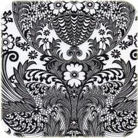 Mexicaans Tafelzeil Paraïso / Barok - 120 x 200 cm - Zwart/Wit