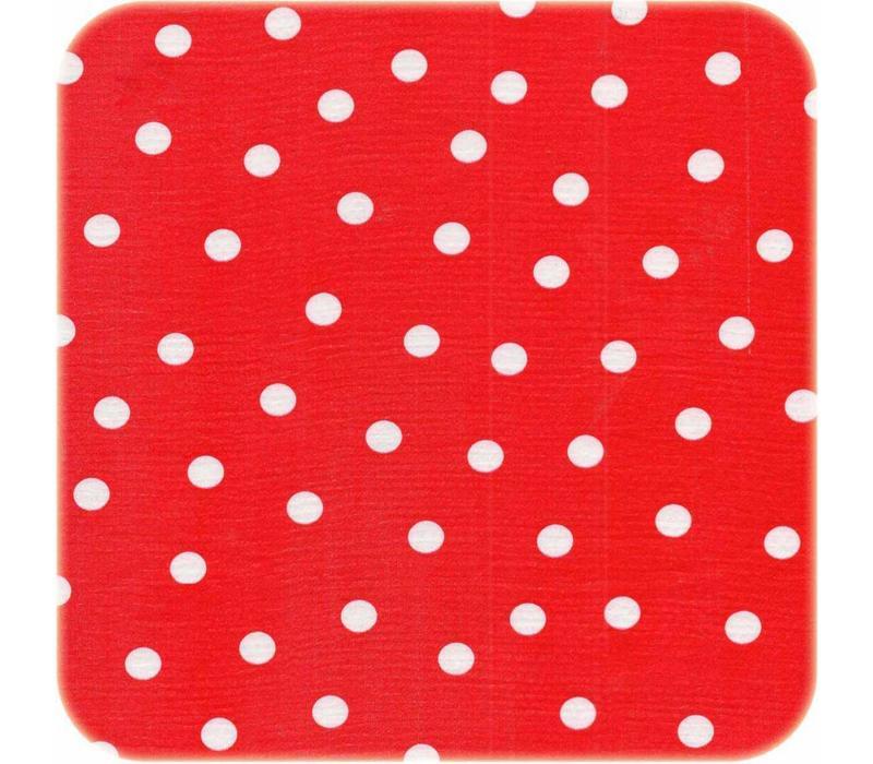 Mexicaans Tafelzeil 3m bij 1,20m roodwit stip