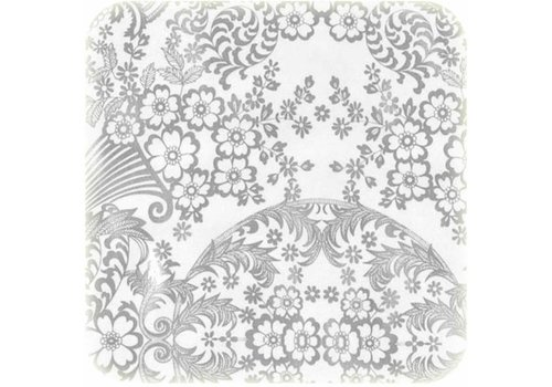 MixMamas Tafelzeil Paraiso / Barok - 120 x 300 cm - Zilver