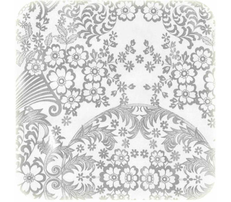 Mexicaans Tafelzeil Paraïso / Barok - 120 x 300 cm - Zilver