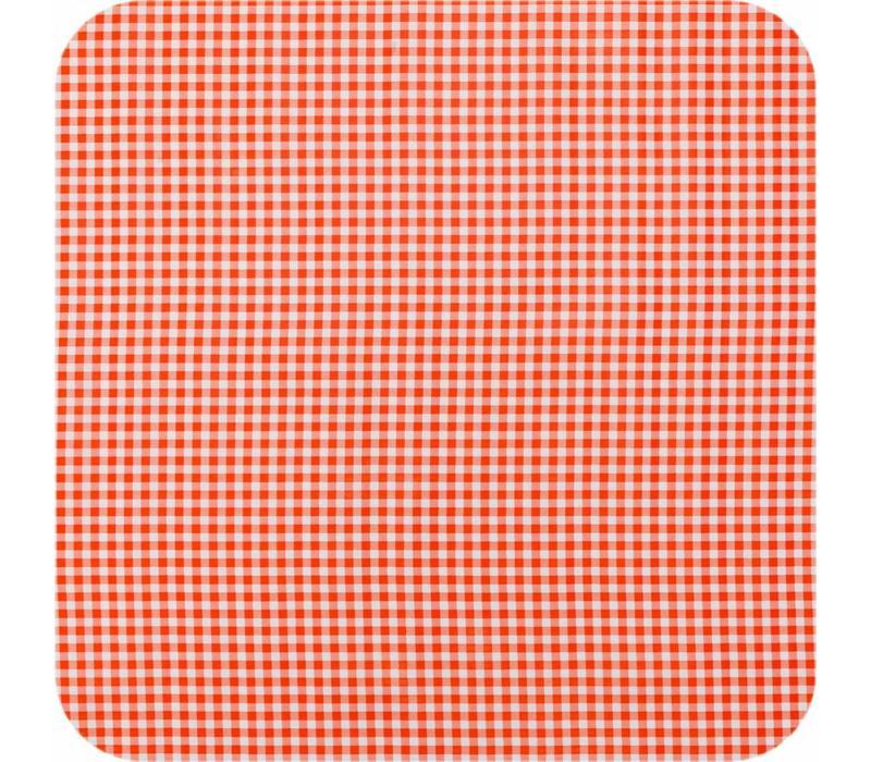 Mexicaans Tafelzeil 3m bij 1,20m Ruitje oranje