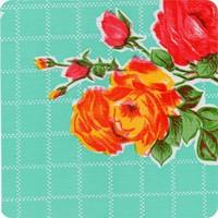 Mexicaans Tafelzeil vierkant 1,20m bij 1,20m Rosedal mint