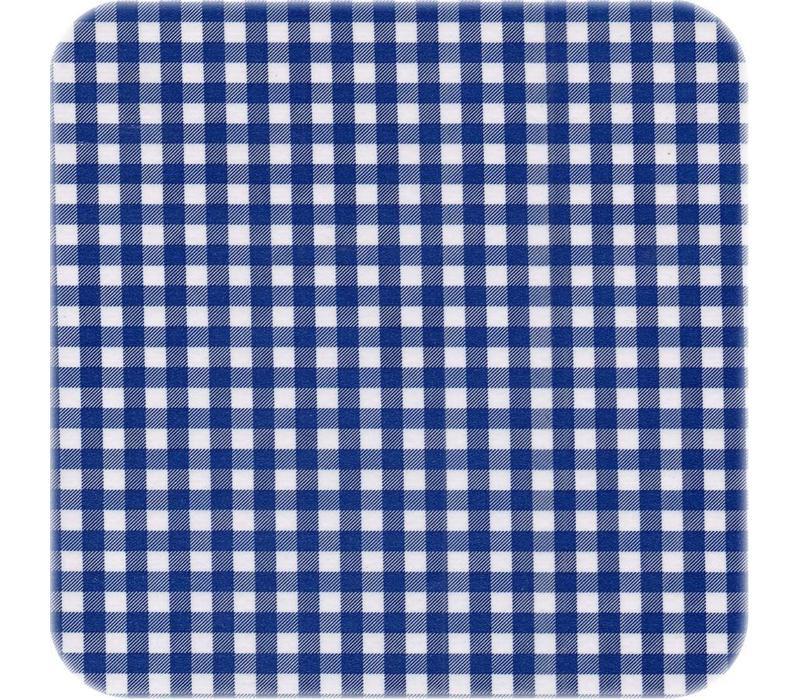 Mexicaans Tafelzeil vierkant 1,20m bij 1,20m Ruitje donkerblauw