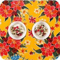Mexicaans tafelzeil 2m bij 1.20m, Fortin geel