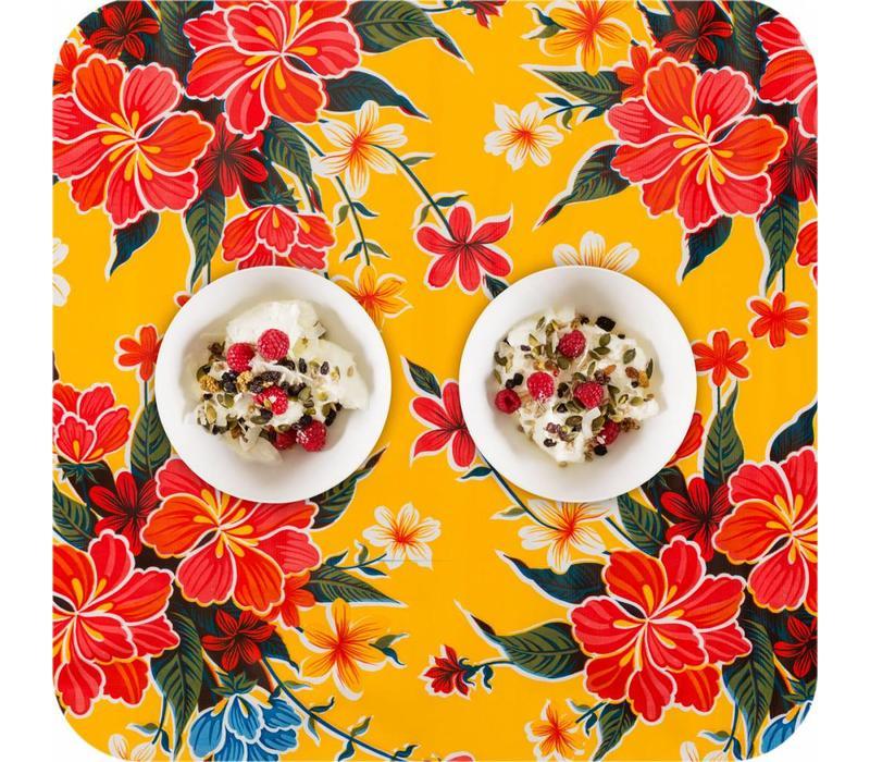 Mexicaans Tafelzeil Fortin - 120 x 300 cm - Geel
