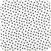 Mexicaans Tafelzeil Stippen Vierkant - 120 x 120 cm - Wit/Zwart