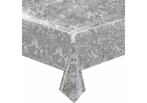 MixMamas Tafelzeil Paraïso / Barok Vierkant - 120 x 120 cm - Zilver