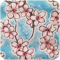 Tafelzeil Kersenbloesem Vierkant - 120 x 120 cm - Lichtblauw