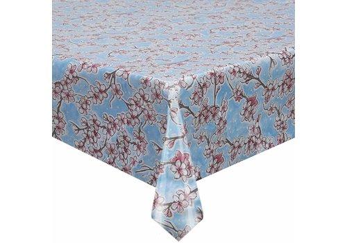 MixMamas Tafelzeil Kersenbloesem - 120 x 300 cm - Lichtblauw
