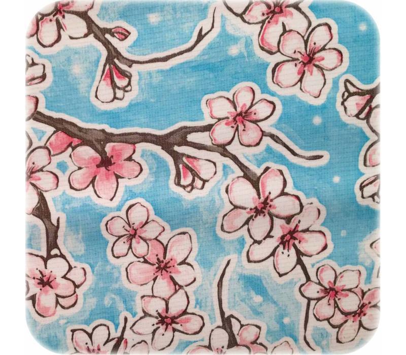Tafelzeil Kersenbloesem - 120 x 300 cm - Lichtblauw