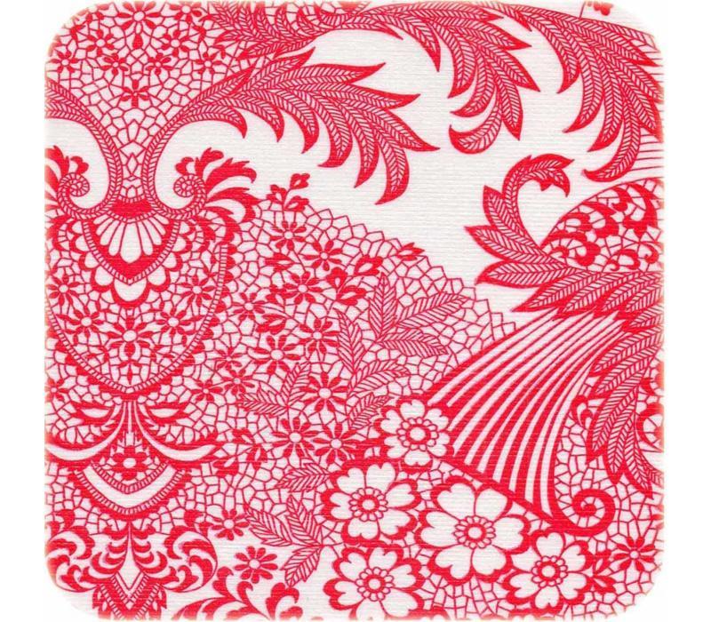 Mexicaans Tafelzeil 3m bij 1,20m barok print rood