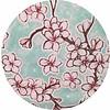 MixMamas Rond tafelzeil 120cm kersenbloesem mintgroen rond
