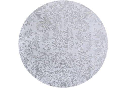MixMamas Tafelzeil Rond - Ø 120 cm - Paraïso / Barok - Zilver
