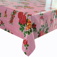 Mexicaans Tafelzeil vierkant 1,20m bij 1,20m Rosedal roze