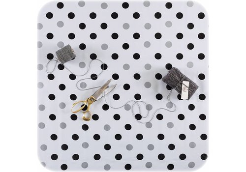 MixMamas Tafelzeil Confetti - Rol - 120 cm x 11 m - Zwart/Zilver