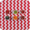 MixMamas Mexicaans tafelzeil op rol Zigzag rood 11m x 1,20m