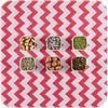 MixMamas Mexicaans tafelzeil op rol Zigzag koraal-rood 11m x 1,20m