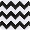 MixMamas Mexicaans tafelzeil op rol Zigzag zwart 11m x 1,20m