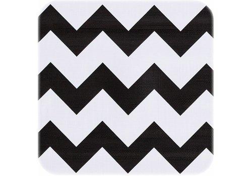 MixMamas Tafelzeil op rol Zigzag zwart rol 11m x 1,20m