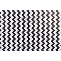 Mexicaans Tafelzeil Zigzag - Rol - 120 cm x 11 m - Zwart