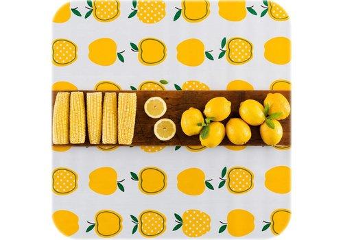 MixMamas Tafelzeil op rol Appel stippels geel 11m x 1,20m
