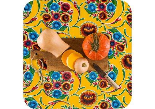 MixMamas Tafelzeil 2m floral, bloom geel