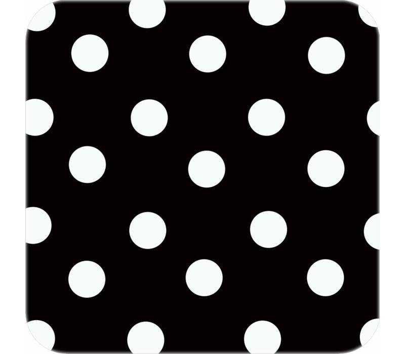 Europees Eco tafelzeil 3mx 1,40m zwartwit grote stip