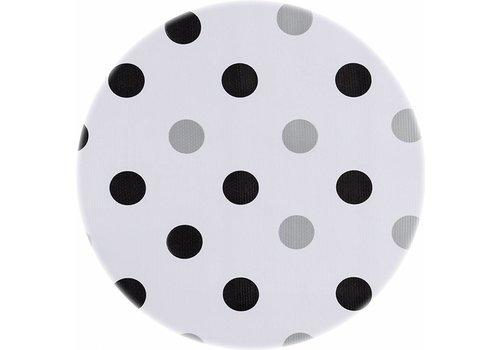 MixMamas Rond tafelzeil 120cm Confetti zwart-zilver