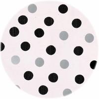 Rond tafelzeil 120cm Confetti zwart-zilver