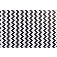 Mexicaans Tafelzeil vierkant 1,20m bij 1,20m ZigZag zwart