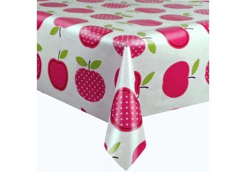 MixMamas Tafelzeil 3m Appels stippels fuchsia