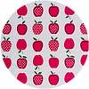 MixMamas Rond tafelzeil 120cm appels stippels fuchsia