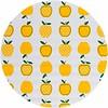 MixMamas Rond tafelzeil 120cm appels stippels geel