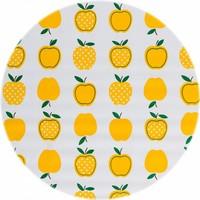 Tafelzeil Rond - Ø 120 cm - Appels Stippels - Geel