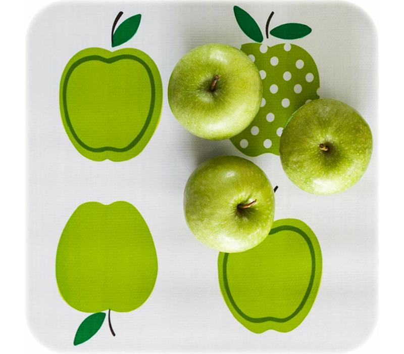 Mexicaans tafelzeil 2m bij 1.20m, Appels stippels lichtgroen