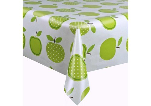 MixMamas Tafelzeil 3m Appels stippels lichtgroen