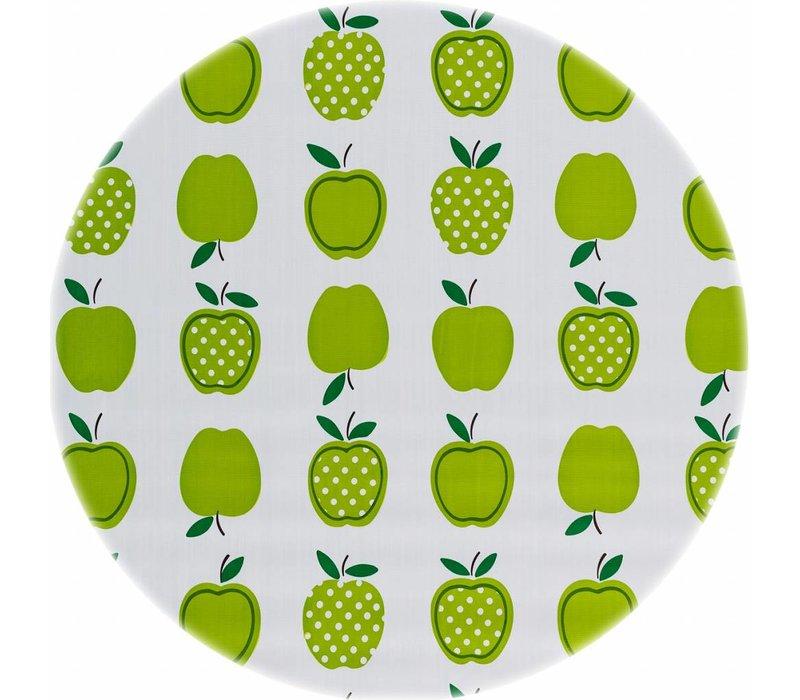 Rond tafelzeil 120cm appels stippels lichtgroen