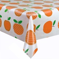 Mexicaans Tafelzeil 3m bij 1,20m Appels stippels oranje