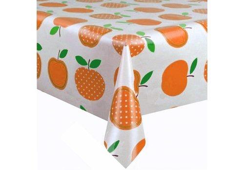 MixMamas Tafelzeil Appels Stippels - 120 x 300 cm - Oranje