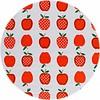 MixMamas Rond tafelzeil 120cm appels stippels oranje